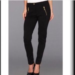 Michael Kors | Navy Skinny Trousers w/ Gold Zipper